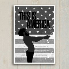 Poster This is America - Encadreé Posters