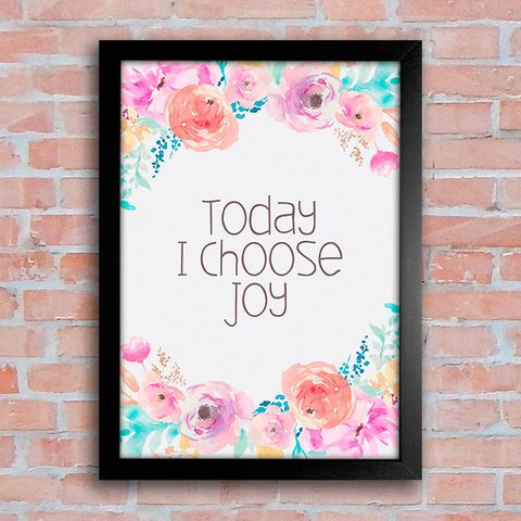 Poster Today I Choose Joy - comprar online