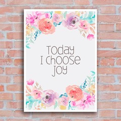 Poster Today I Choose Joy - Encadreé Posters
