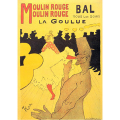 Toulouse  Lautrec - Moulin Rouge La Goulue na internet