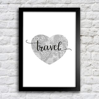 Poster Travel Heart - comprar online