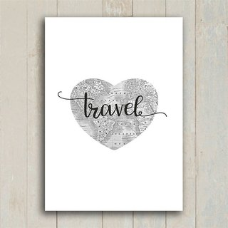Poster Travel Heart na internet