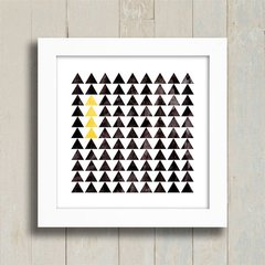 Quadro Triangles Black and Yellow na internet