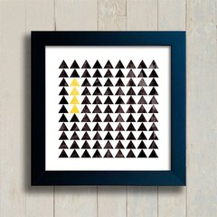 Quadro Triangles Black and Yellow - comprar online