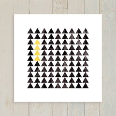 Quadro Triangles Black and Yellow