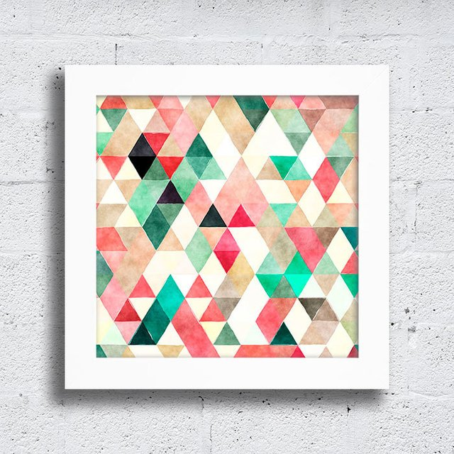 Quadro Triangles Green & Red - comprar online