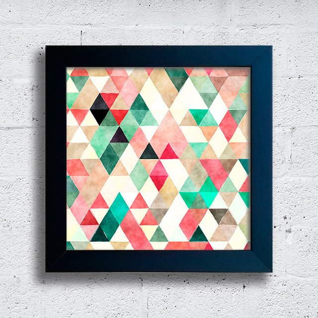 Quadro Triangles Green & Red na internet