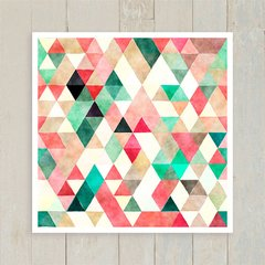 Quadro Triangles Green & Red