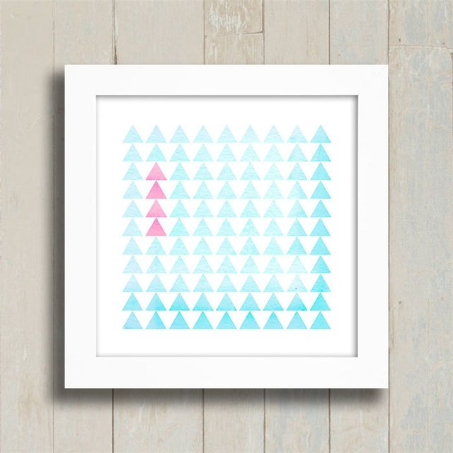 Quadro Triangles Pink and Blue na internet