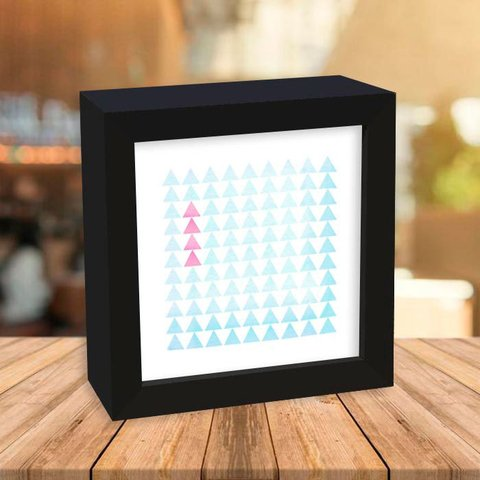 Quadro Box Triangles Pink and Blue - comprar online