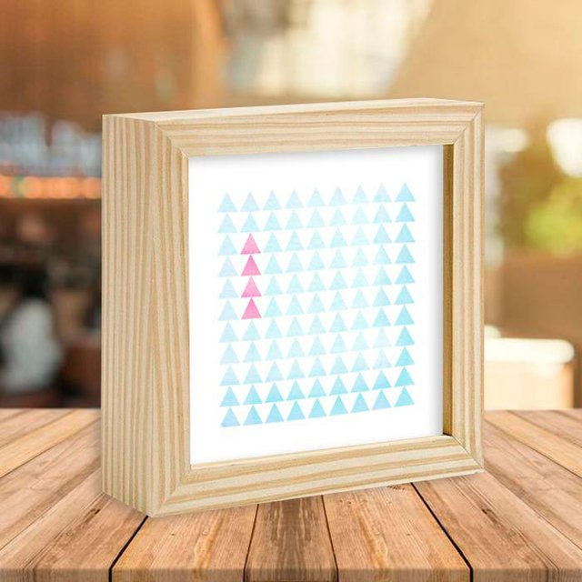 Quadro Box Triangles Pink and Blue - Encadreé Posters