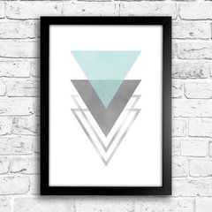 Poster Triangles Blue & Grey I - comprar online