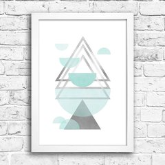 Poster Triangles Blue & Grey III na internet