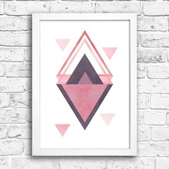 Poster Triangles Rose & Purple II na internet