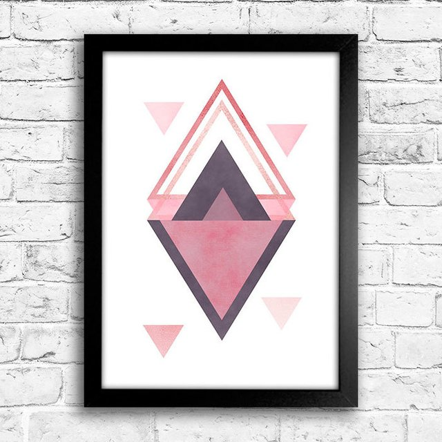 Poster Triangles Rose & Purple II - comprar online