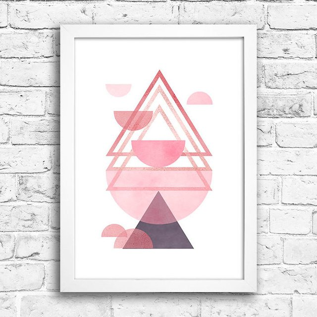 Poster Triangles Rose & Purple III na internet