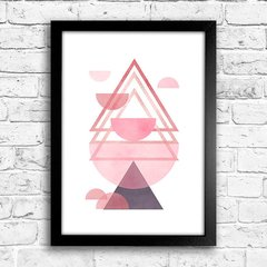 Poster Triangles Rose & Purple III - comprar online