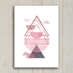 Imagem do Poster Triangles Rose & Purple III