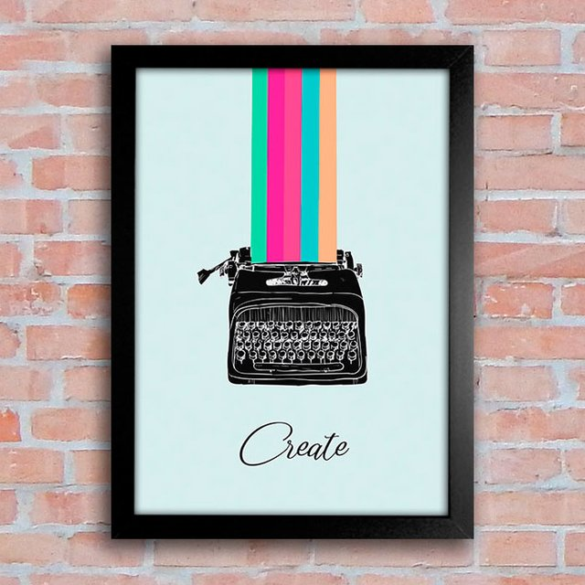 Poster Typewriter - Create