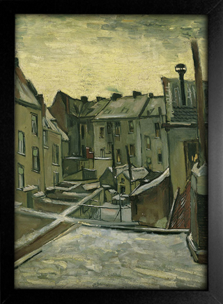 Imagem do Van Gogh - Houses Seen From The Back