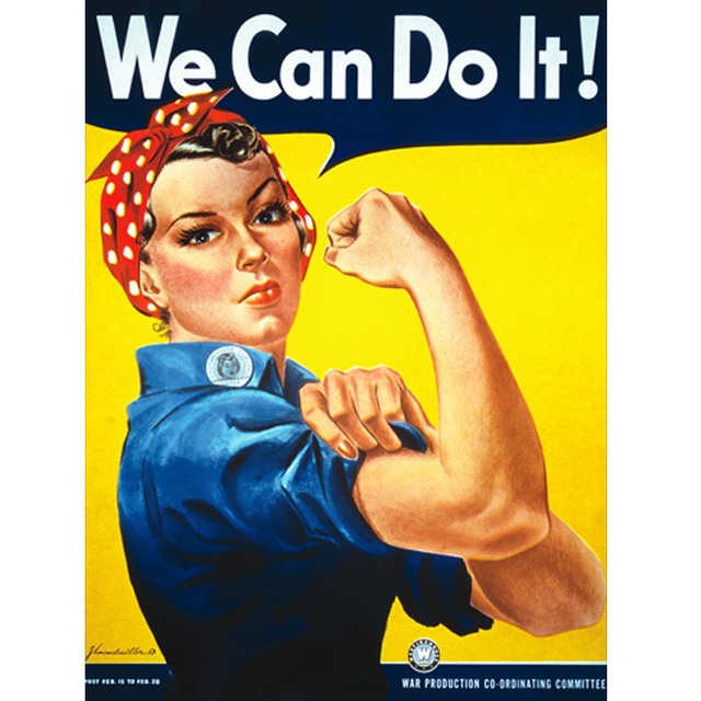 Poster We Can Do It na internet
