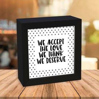 Quadro Box We accept the love - comprar online