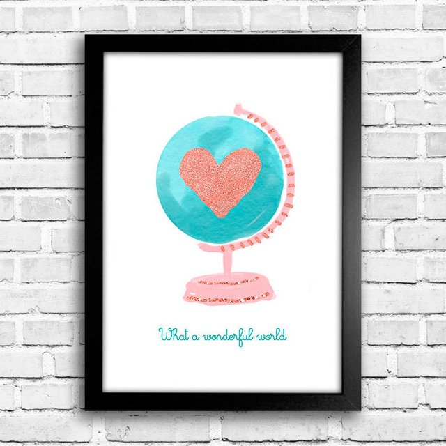 Poster Wonderful World - comprar online