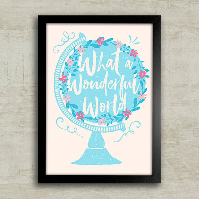 Poster What a Wonderful World - comprar online