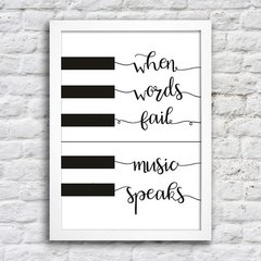 Poster When words fail music speaks na internet