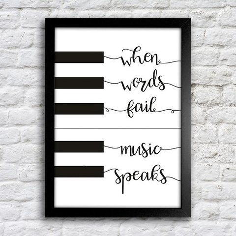 Poster When words fail music speaks - comprar online