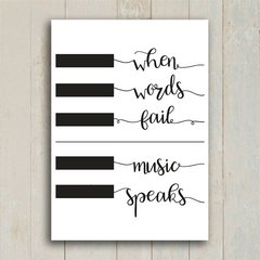 Imagem do Poster When words fail music speaks