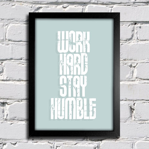 Poster Work Hard Stay Humble - comprar online