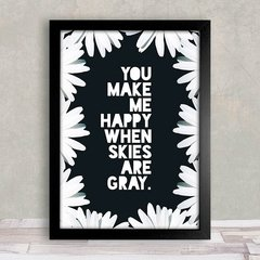 Poster You make me happy - comprar online