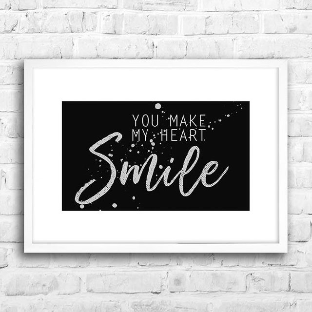 Poster You make my heart smile - loja online