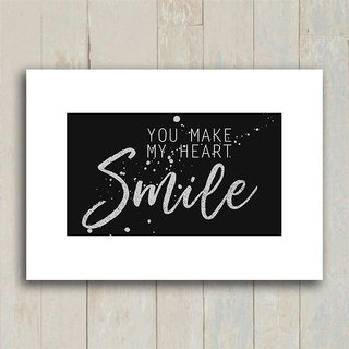Poster You make my heart smile - Encadreé Posters