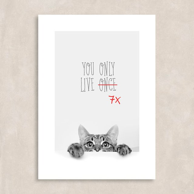 Poster You Only Live Once - 7x - Sem Moldura