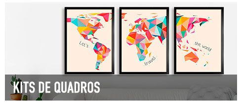 Kits de Posters e Quadros Decorativos