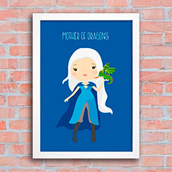 Poster Game of Thrones - daenerys - Mother of Dragons