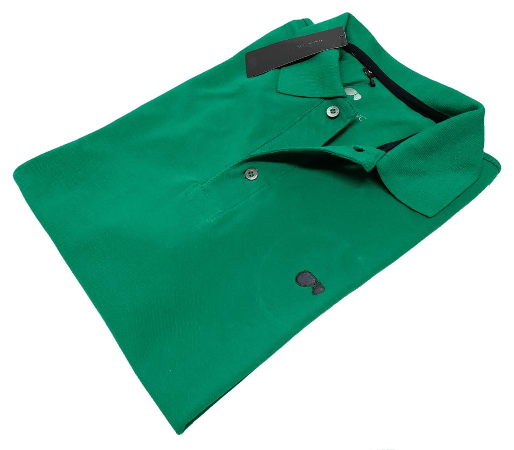 27f0920b0b Camisa Polo Hugo Blanc Piquet Verde 050