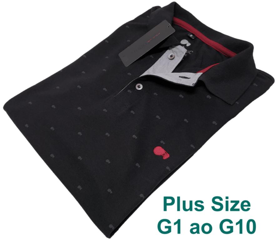 478f803901 Camisa Polo Hugo Blanc Plus Size Óculos Preto 090