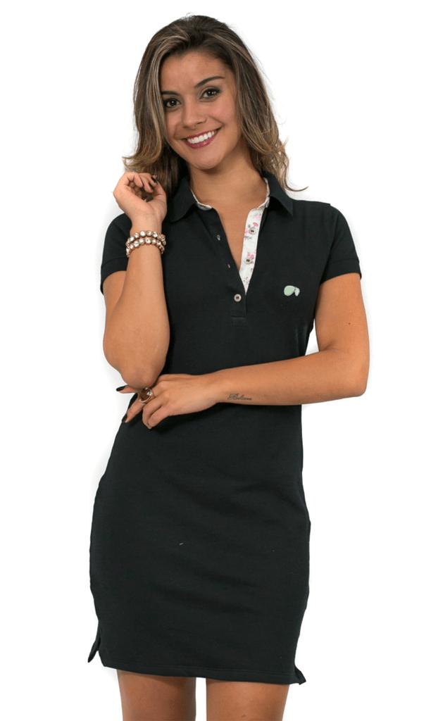 25c17d6732 Vestido Gola Polo Hugo Blanc Piquet 090