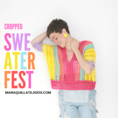 CROPPED SWEATER FEST - PATRÓN EN PDF