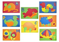 Pack X 8 Mini Animalitos Goma Eva Encastrables 18x12cm X 10mm