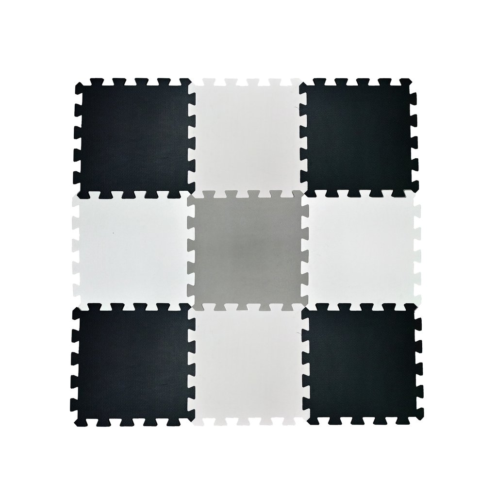 7e7e81c3fb6 Piso Goma Eva X 9 Encastrable 50x50x10mm Blanco Negro Gris