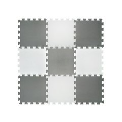 Set Pisos Goma Eva X 9 Encastrable 50x50x10mm Blanco Negro Gris en internet