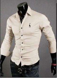 Camisa Casual Slim Fit  European Embroidery