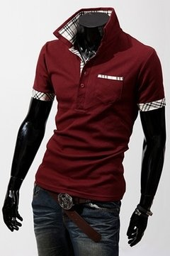 Camisa Polo Turndown Collar
