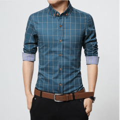 Camisa Casual Slim Fit Quadriculada