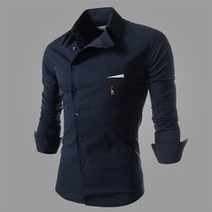 Camisa Casual Slim Fit European Embroidery - MD01