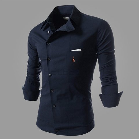 Camisa Casual Slim Fit European Embroidery - MD01 - comprar online
